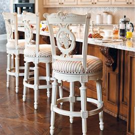 Provencal Rooster Swivel Bar And Counter Stools Frontgate
