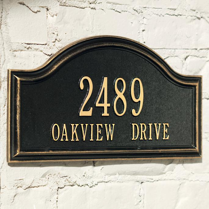 Oakview Address Plaques - Frontgate