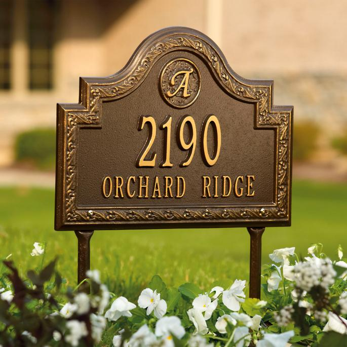 Stratford Wall Mount Address Plaque Frontgate