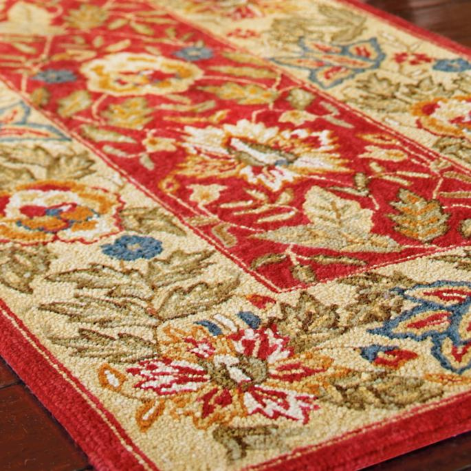 Brianna Hook Wool Area Rug Frontgate