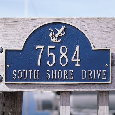 Anchor Arch Address Plaques Frontgate