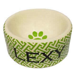 Personalized Trellis Dog Bowl