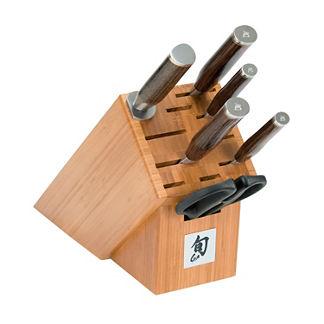 Shun Premier Knives with Block, Set of Seven