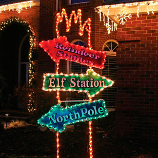 Lighted Arrow Post 8-ft. Sign