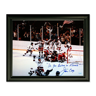 1980 USA Olympic Hockey Team Goalie Jim Craig Signed Photo