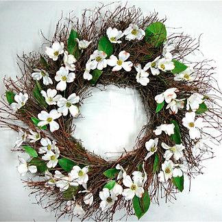 Silk Dogwood Wreath