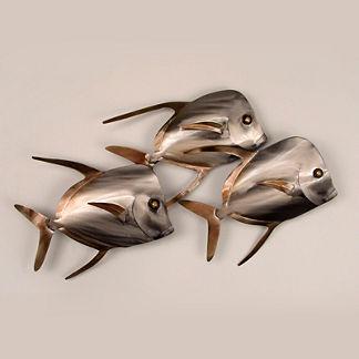 Lookdown Fish Trio Wall Art by Copper Art