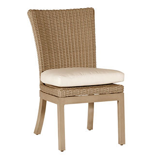 Rustic Side Chair with Cushion by Summer Classics