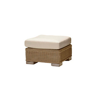Rustic Ottoman with Cushion by Summer Classics