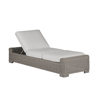 Rustic Chaise Lounge with Cushion by Summer Classics