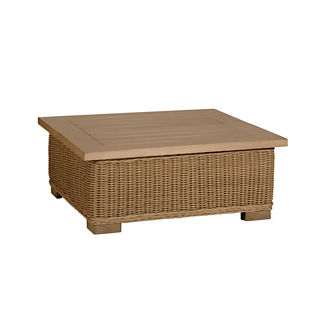 Rustic Wicker Coffee Table by Summer Classics