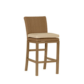 Rustic Counter Height Bar Stool with Cushion by Summer Classics (24