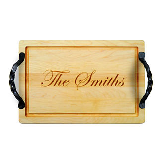 Personalized Rectangular Cutting Board with Name or Phrase