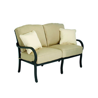 Somerset Loveseat with Two Pillows and Cushions by Summer Classics