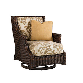 Tommy Bahama Island Estate Lanai Swivel Chair with Pillow
