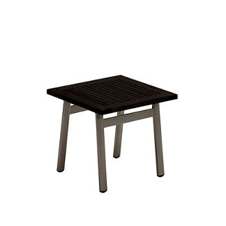 Azore Side Table with Aluminum Slatted Top