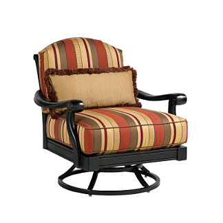 Tommy Bahama Kingstown Swivel Chair with Pillow