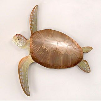 Sea Turtle Wall Decor by Copper Art