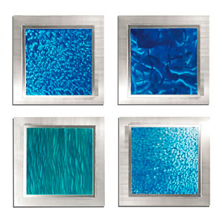 Oceanic Wall Art, Set of Four
