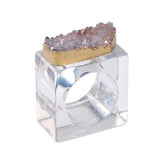 Kim Seybert Rock Crystal Napkin Rings, Set of Four