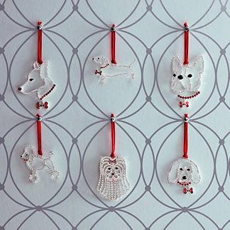 Crystal Dog Breed Ornaments