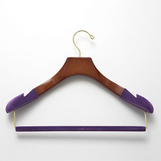 Women's Suit Hangers with Felted Bars, Set of Three