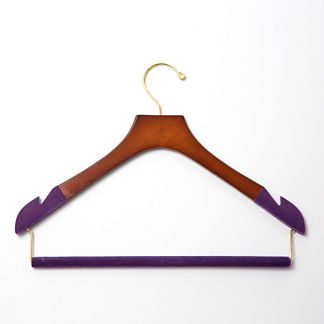 Women's Skinny Pant Hangers with Felted Bar, Set of Five