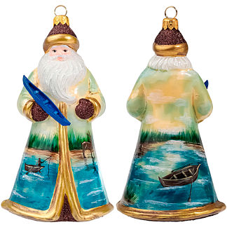 Glitterazzi Santa Ornaments