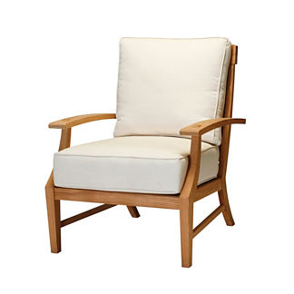 Croquet Teak Lounge Chair with Cushions by Summer Classics