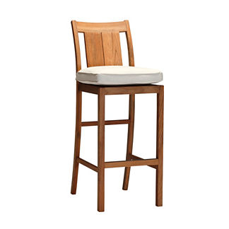Croquet Teak Bar Stool with Cushion by Summer Classics