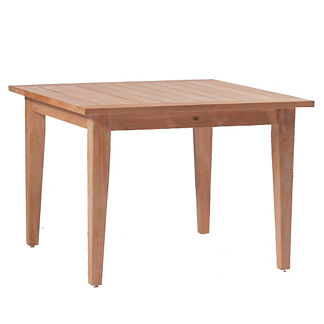 Club Teak Square Farm Table by Summer Classics
