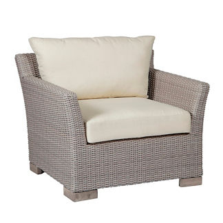 Club Woven Lounge Chair with Cushions by Summer Classics