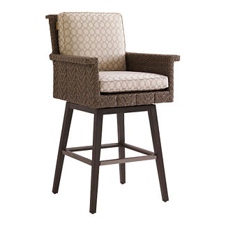 Tommy Bahama Blue Olive Swivel Bar Stool