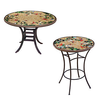 KNF Caramel Hummingbird Round Bistro Table