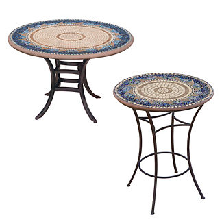 KNF Caribbean Sea Round Bistro Table