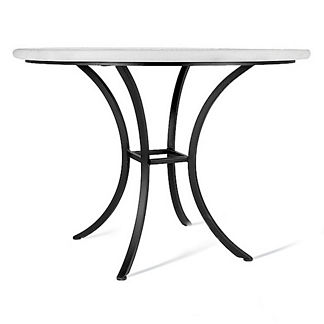 Tortoise Fleur-de-Lis Round Bistro Table