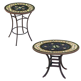 KNF Tuscan Lemons Round Bistro Table