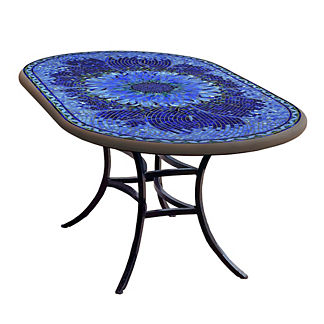 KNF Bella Bloom Oval Bistro Table