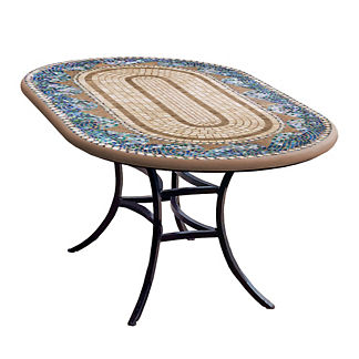 KNF Caribbean Sea Oval Bistro Table
