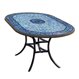 Seafoam Atlas Oval Bistro Table