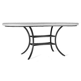 Tortoise Fleur-de-Lis Oval Bistro Table