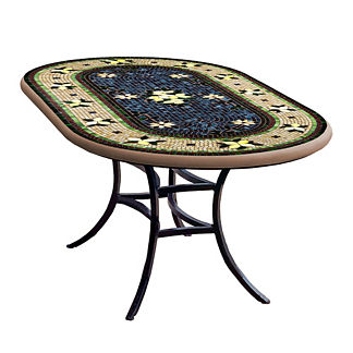 KNF Tuscan Lemons Oval Bistro Table