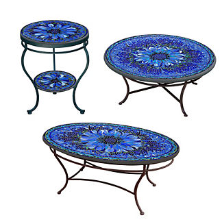 KNF Bella Bloom Double-Tiered Side Table