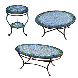 KNF Belize Double-Tiered Side Table