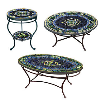 Lake Como Double-Tiered Side Table