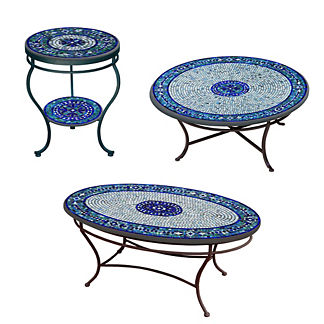 KNF Seafoam Atlas Double-Tiered Side Table
