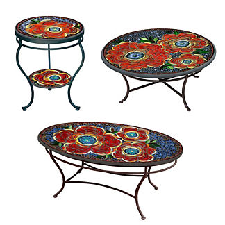 KNF Zinnia Double-Tiered Side Table