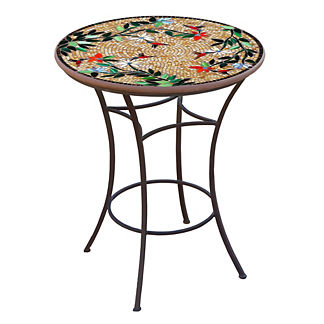 KNF Caramel Hummingbird Round High Dining Table