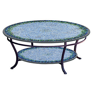 KNF Belize Round Double-Tiered Coffee Table