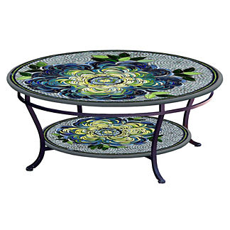 Giovella Round Double-tiered Coffee Table